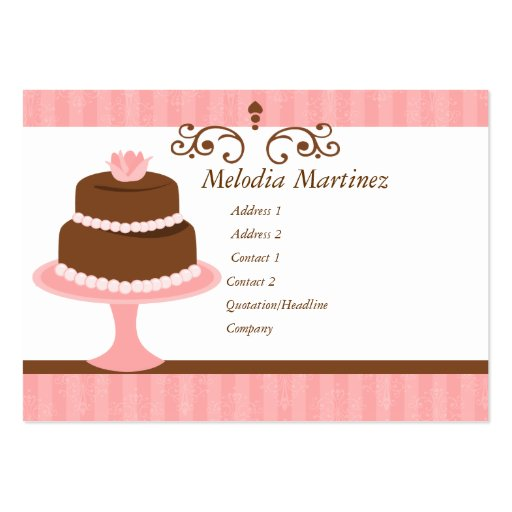 Pretty Cake Large Business Cards (Pack Of 100)