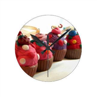 Pretty Cakes Round Clock