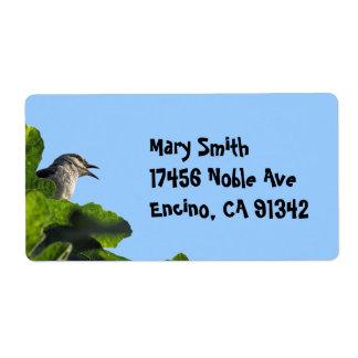 Pretty California Mockingbird Shipping Label