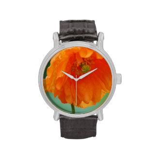 Pretty California Poppy Wrist Watch