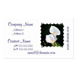Pretty Calla Lilies Business Cards