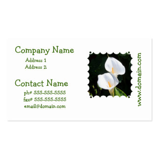Pretty Calla Lilies Business Card