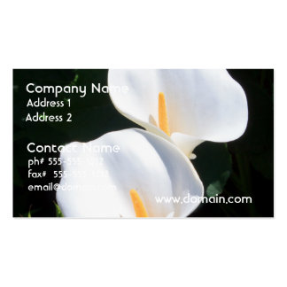 Pretty Calla Lilies Business Card Templates