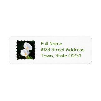 Pretty Calla Lilies Return Address Label