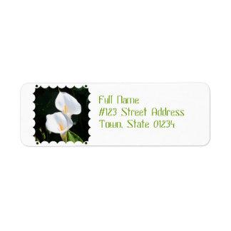 Pretty Calla Lilies Label