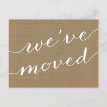 Pretty Calligraphy | Change of Address Announcement Postcard