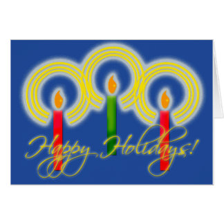Pretty Candles Holiday Card
