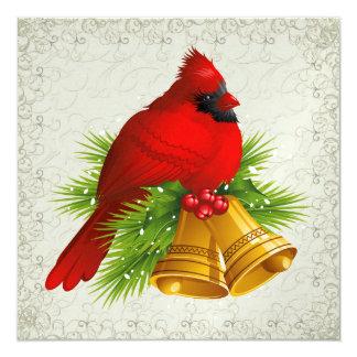 Pretty Cardinal Elegant Invitation