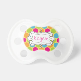 Pretty Carnival Candy Colored Polkadots Pacifier