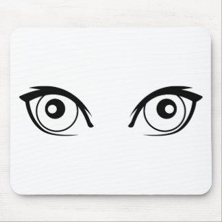 Pretty Cartoon Eyes Mouse Pad