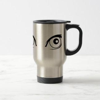 Pretty Cartoon Eyes Travel Mug