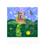 pretty castle paint 2345.png made in corel and PAN Postcard