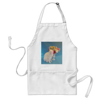 Pretty Cat by Flowers Adult Apron