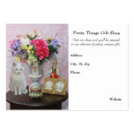 Pretty Cat/Flowers/Gift Shop Large Business Cards (Pack Of 100)