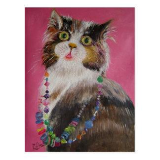 pretty cat post card