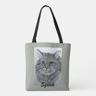 Pretty Cat Squeek Tote Bag