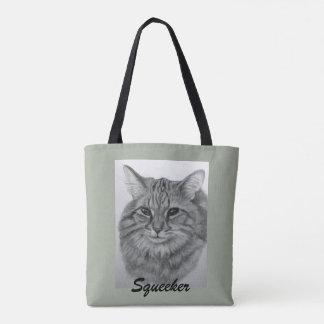 Pretty Cat Squeeker Tote Bag