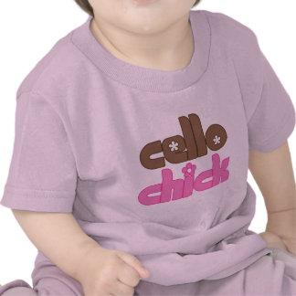 Pretty Cello Chick Baby T-shirt