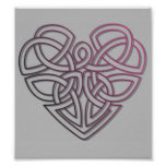 Pretty Celtic Heart design Poster