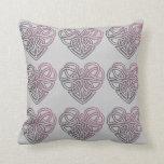 Pretty Celtic Heart design Throw Pillow