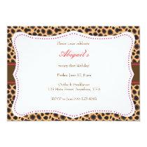 Pretty Cheetah Invitation