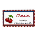 Pretty Cherries Custom Canning Labels