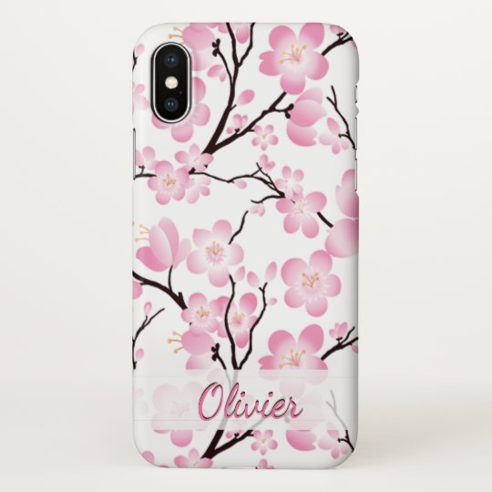 factory price 376be d99a0 pretty cherry blossom elegant iphone x case cover