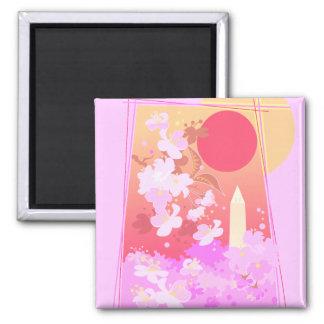 pretty cherry blossom scene magnet