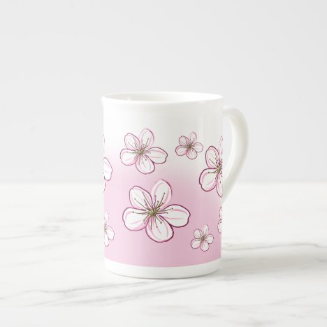 Pretty Cherry Blossom tea or coffee Bone China Mug