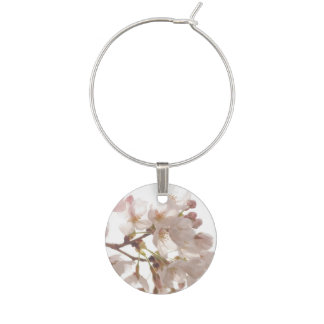 Pretty Cherry Blossoms Wine Glass Charm