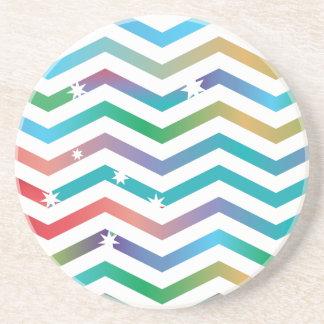 Pretty Chevron Sandstone Coaster