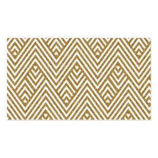 Pretty chevron zigzag diamond shapes pattern business card