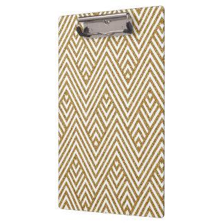 Pretty chevron zigzag diamond shapes pattern clipboard
