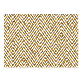 Pretty chevron zigzag diamond shapes pattern large business card
