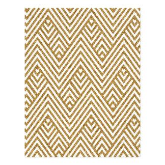 Pretty chevron zigzag diamond shapes pattern letterhead