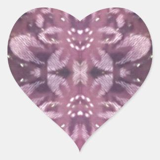 Pretty Chic Burgundy Lavender Artistic Floral Heart Sticker
