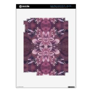 Pretty Chic Burgundy Lavender Artistic Floral iPad 3 Decal