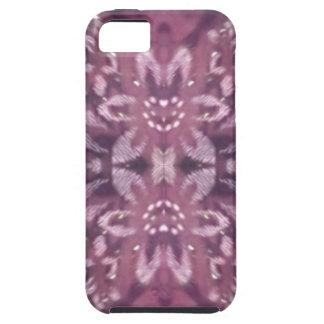Pretty Chic Burgundy Lavender Artistic Floral iPhone SE/5/5s Case