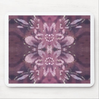 Pretty Chic Burgundy Lavender Artistic Floral Mouse Pad