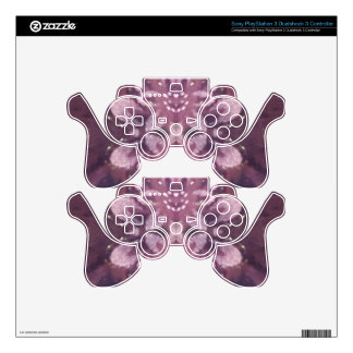 Pretty Chic Burgundy Lavender Artistic Floral Skin For PS3 Controller