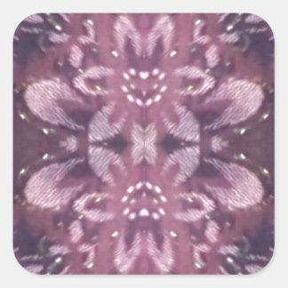 Pretty Chic Burgundy Lavender Artistic Floral Square Sticker