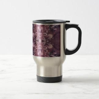 Pretty Chic Burgundy Lavender Artistic Floral Travel Mug