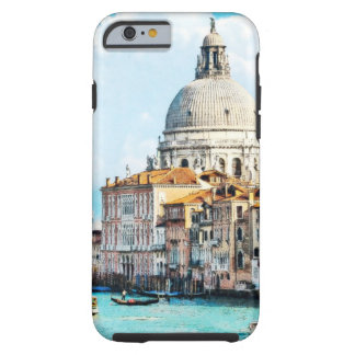 Pretty Chic Italy Venice Canal Pastel Watercolor Tough iPhone 6 Case