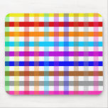 Pretty Chic Multi Gingham Checked Fabric Pattern Mouse Pad