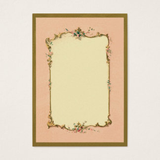 Pretty Chic Vintage French Blank Page Border Business Card