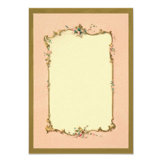Pretty Chic Vintage French Blank Page Border Card