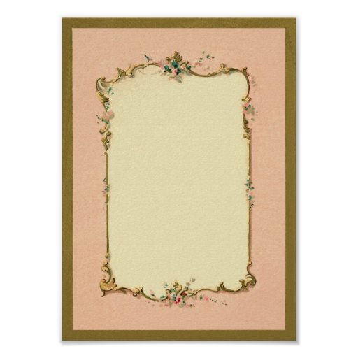 Pretty Chic Vintage Fr... Old Blank Poster