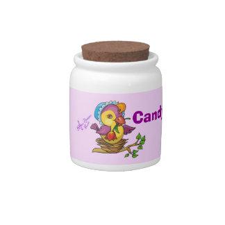 Pretty Chick Candy Jar