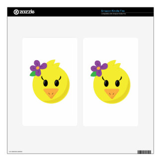 Pretty Chick Decal For Kindle Fire