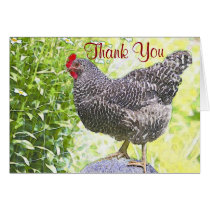 Pretty Chicken Thank You Card